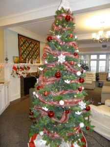 The tree is adorned with doves bearing names of Elders who have passed away while living at Frieda House.