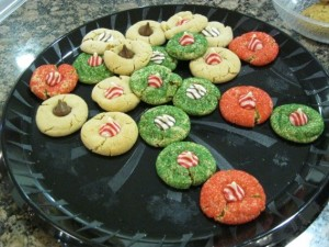 A plate of cookies are enjoyed by Elders and their families.